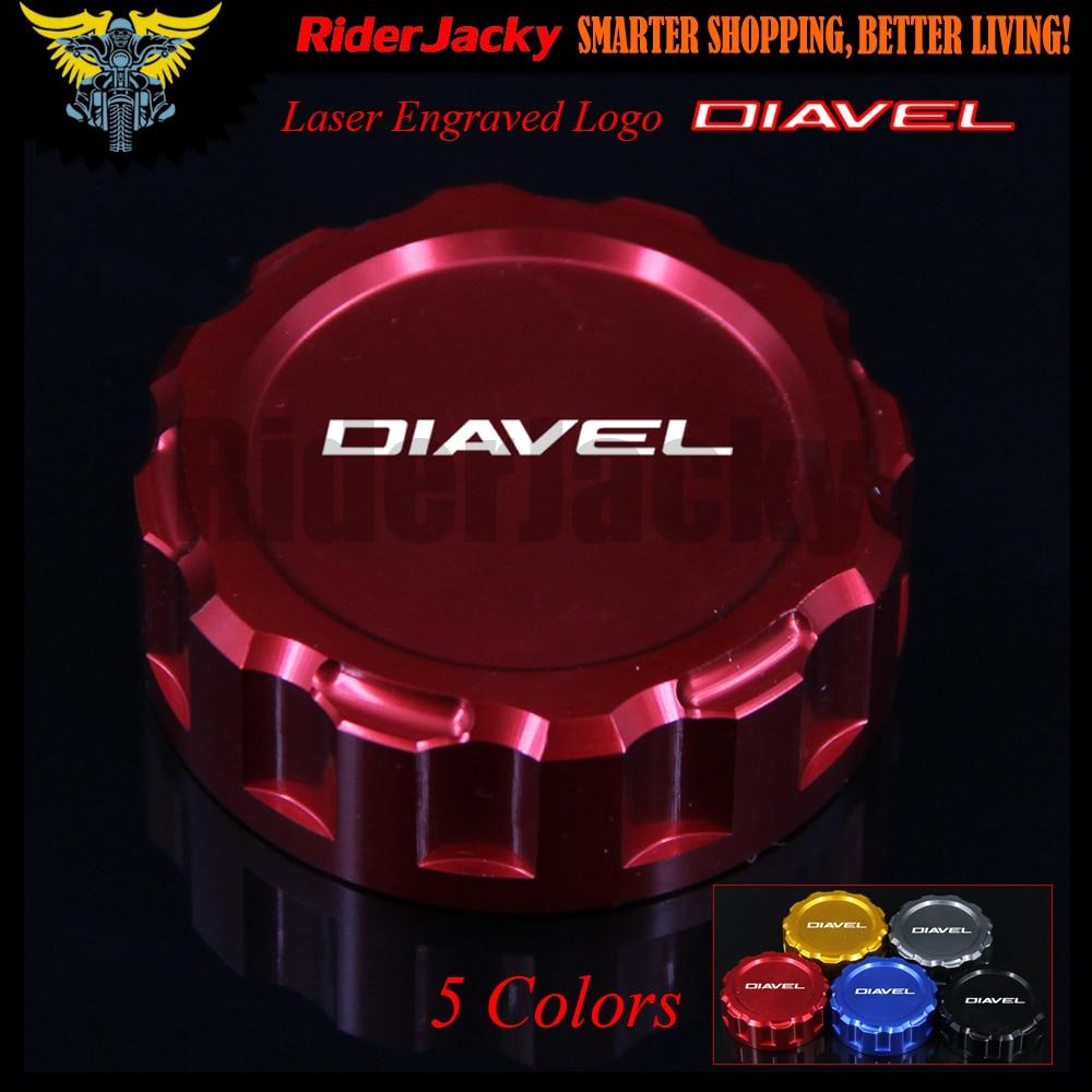 Rojo motocicleta CNC de cilindro maestro de freno trasero cubierta de Depósito tapa para Ducati Diavel 2010-2017, 2011, 2012, 2013, 2014, 2015, 2016