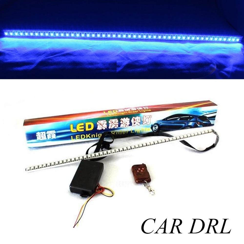 Novedad kit de tira de luz LED de coche con mando a distancia RGB Luz de coche knight LED Rider 1 pieza 7color 130 modelo 56cm 5050SMD LED