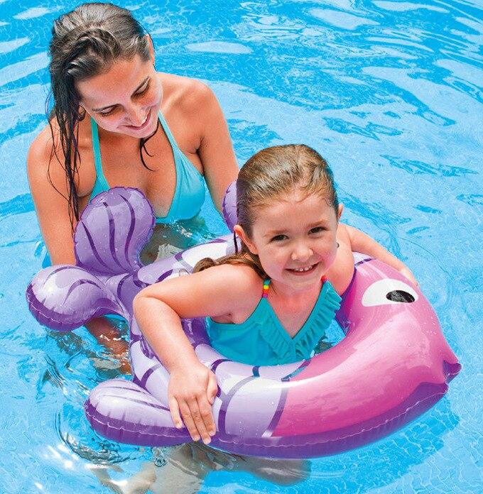 Baby Float Aufblasbare Schwimmen Kreis Baby Schwimmen Schwimmer Schwimmen Ring Pool Zubehör Ärmeln Strand Bade Neugeborene Neck Float