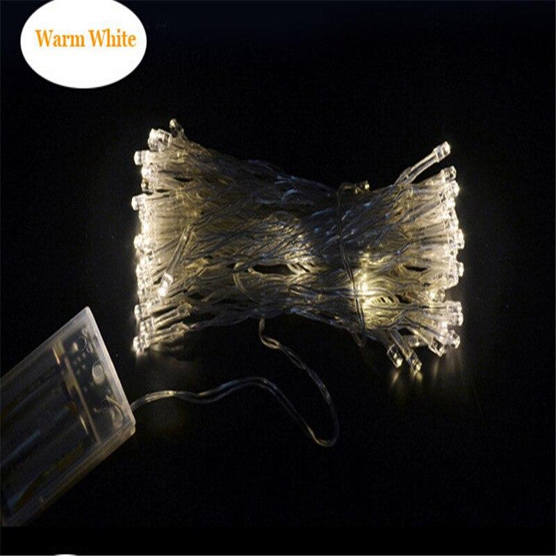 50 LED guirlandes LEDs fonctionnant sur batterie pour noël guirlande fête mariage décoration noël clignotant fée lumières