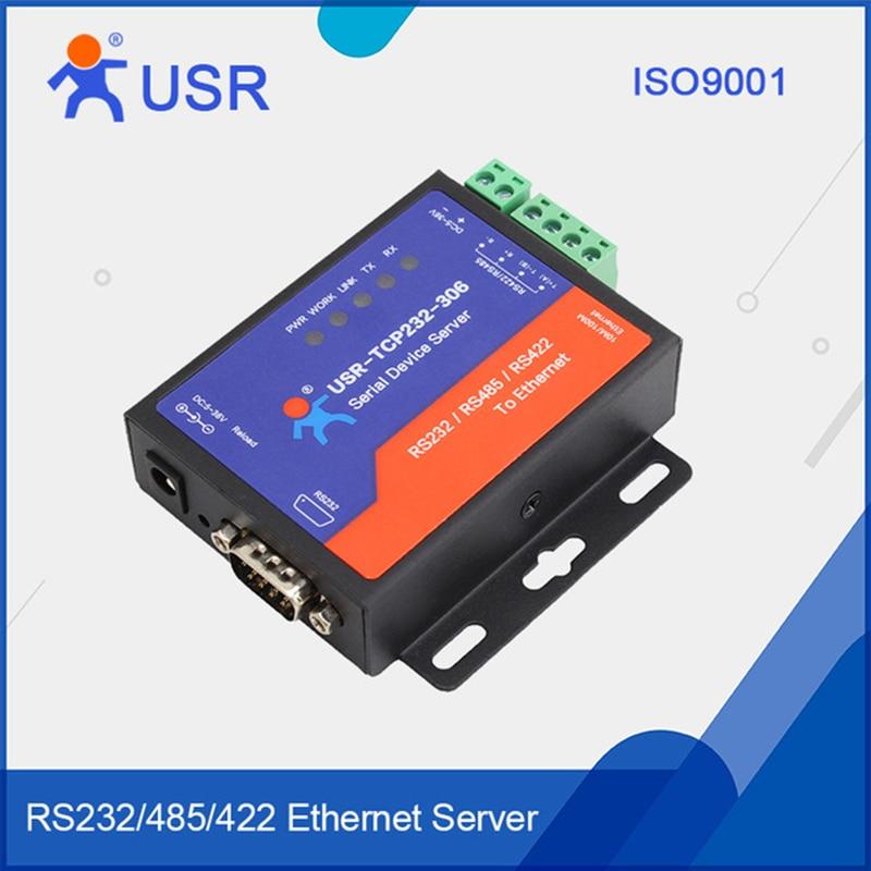 USR-TCP232-306 Seriell zu LAN Ethernet Modems Konverter RS422/RS232/RS485 Seriell zu Ethernet Unterstützung DNS DHCP Buit- in Webpage104