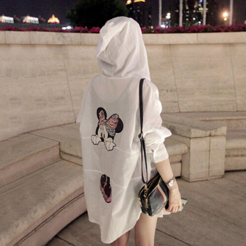 Lato ochrony przeciwsłonecznej sweter Mickey Cartoon płaszcz dorywczo rękaw w kształcie skrzydła nietoperza kobiet topy krótki zamek błyskawiczny kobiet stylowy płaszcz Casaco