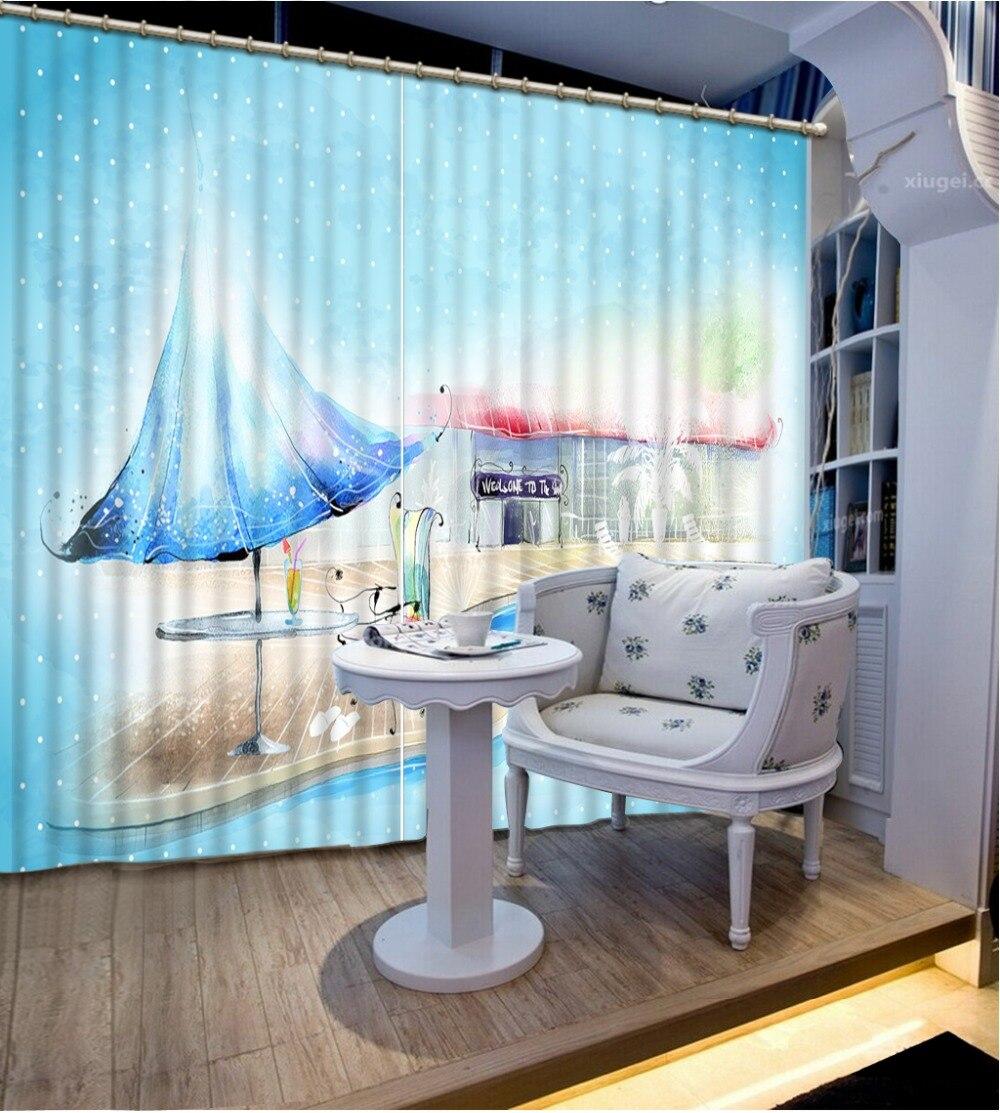 Cortina personalizada en 3D de cualquier tamaño, bonita Hada, dibujos animados del mundo, dibujos animados 3d, cortinas opacas para sala de estar, tela para dormitorio infantil