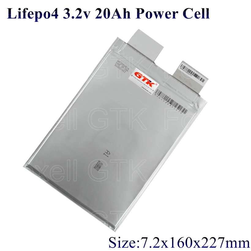 12 Uds UE US lifepo4 20ah batería 3,2 v celda 200A 100A amperios para diy paquete 36v 20ah EV energía Alta Tensión fuente de alimentación bateria
