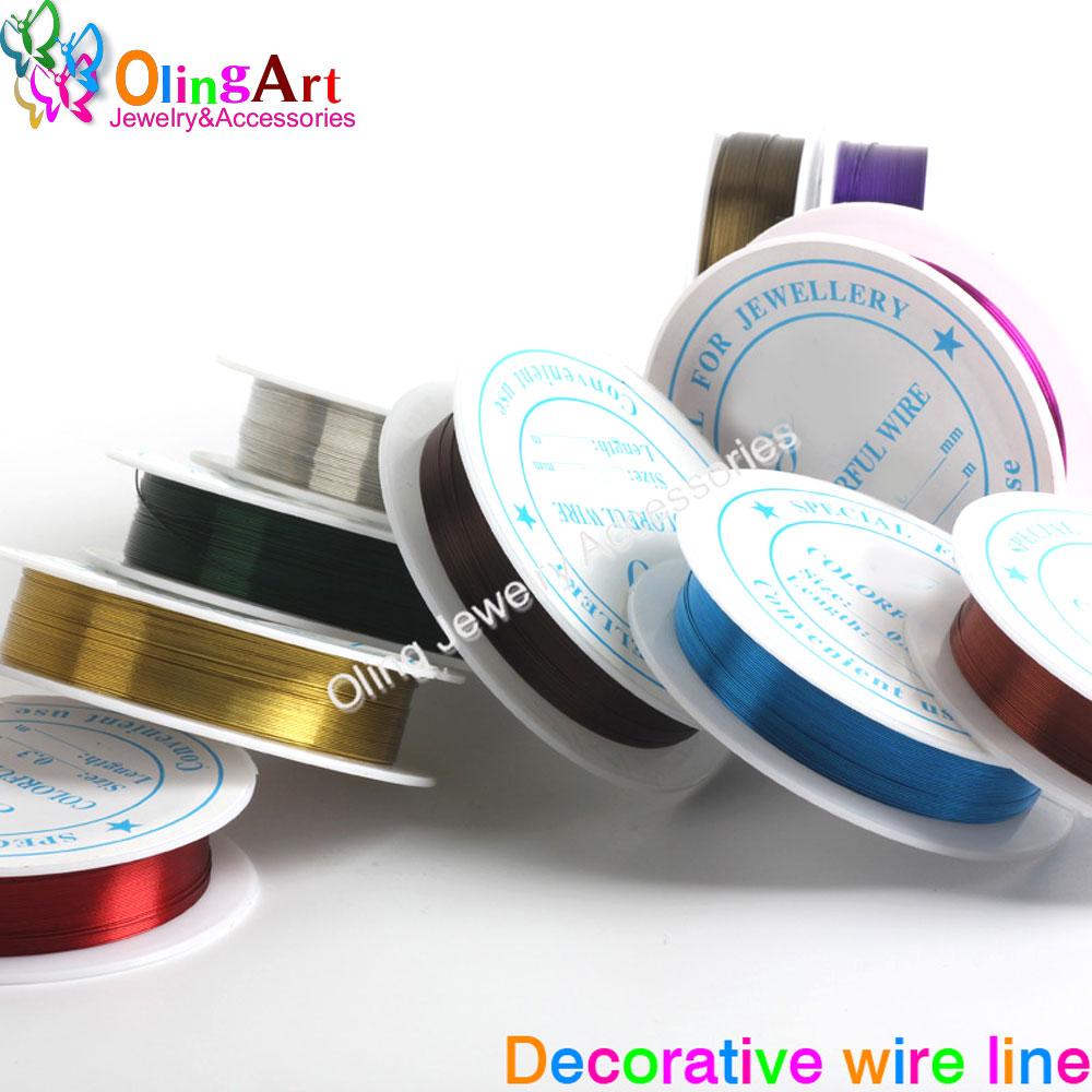 7 OlingArt 0.5 MILÍMETROS M/Roll Fio Fio de linha multicolor mista banhado Artesanato Frisado gargantilha DIY Pulseira colar de jóias fazer 2019