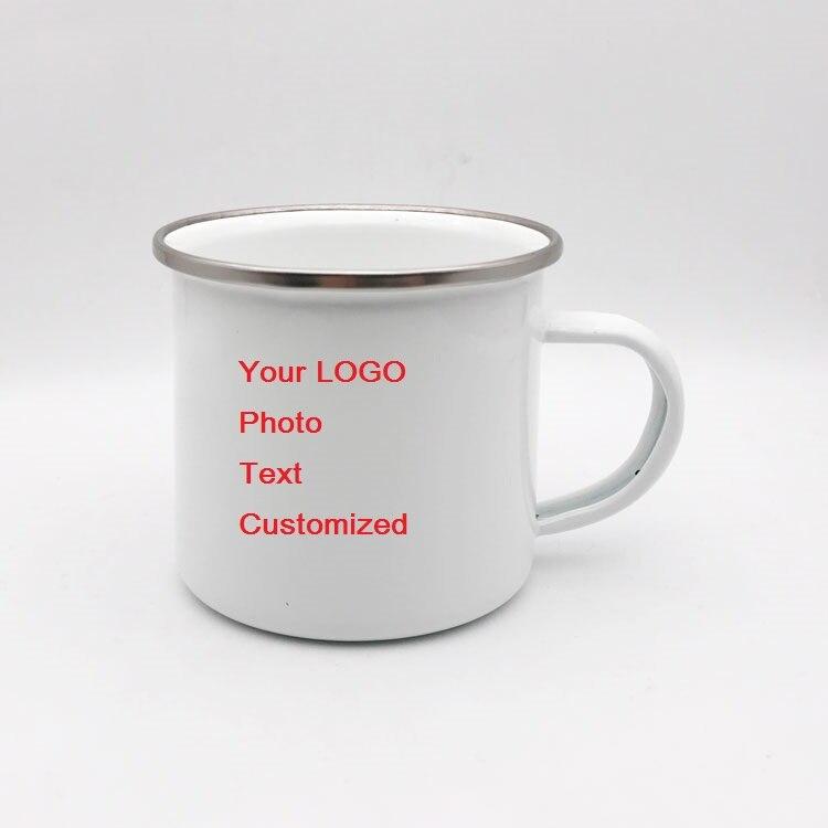 350 мл креативная кофейная кружка для путешествий чайная чашка на заказ молочные чашки, покрытые эмалью ручной работы DIY домашний офис персон...