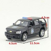 WELLY 1/36 Scal Politie Versie 2008 Chevrolet Tahoe Full-size SUV Diecast Metal Pull Back Auto Model Speelgoed Voor gift/Kids