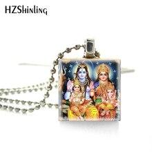2018 nouvelle mode Vintage Ganesha dieux hindous déesses Scrabble jeu tuiles rétro Ganesh Photo bijoux balle roman chaînes collier