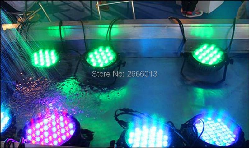 8pcs Outdoor 54*3W RGBW Waterproof Aluminum LED PAR Light IP65 Waterproof Stage Effect Lights For DJ Open Air Party Park Garden