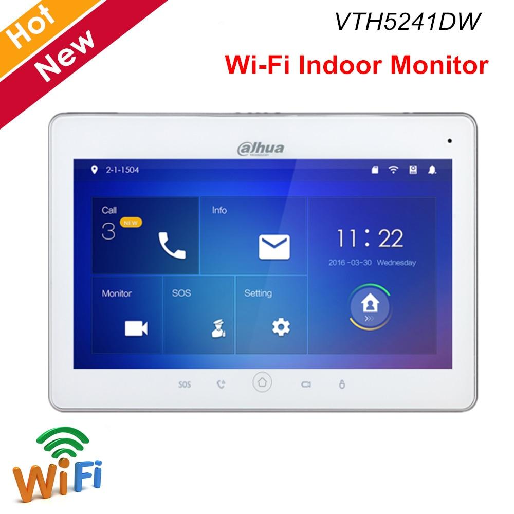 "Dahua Video Intercoms VTH5241DW WiFi Indoor Monitor 10"" TFT Touch Screen for IPC surveillance Micro SD card optional max 32GB"