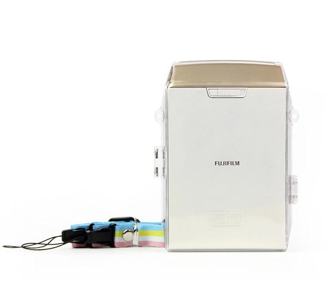 Caja de pvc Fuji Fujifilm INSTAX SHARE SP-2 Mini Smart Phone transparente película instantánea impresora cristal funda bolsa con correa de hombro