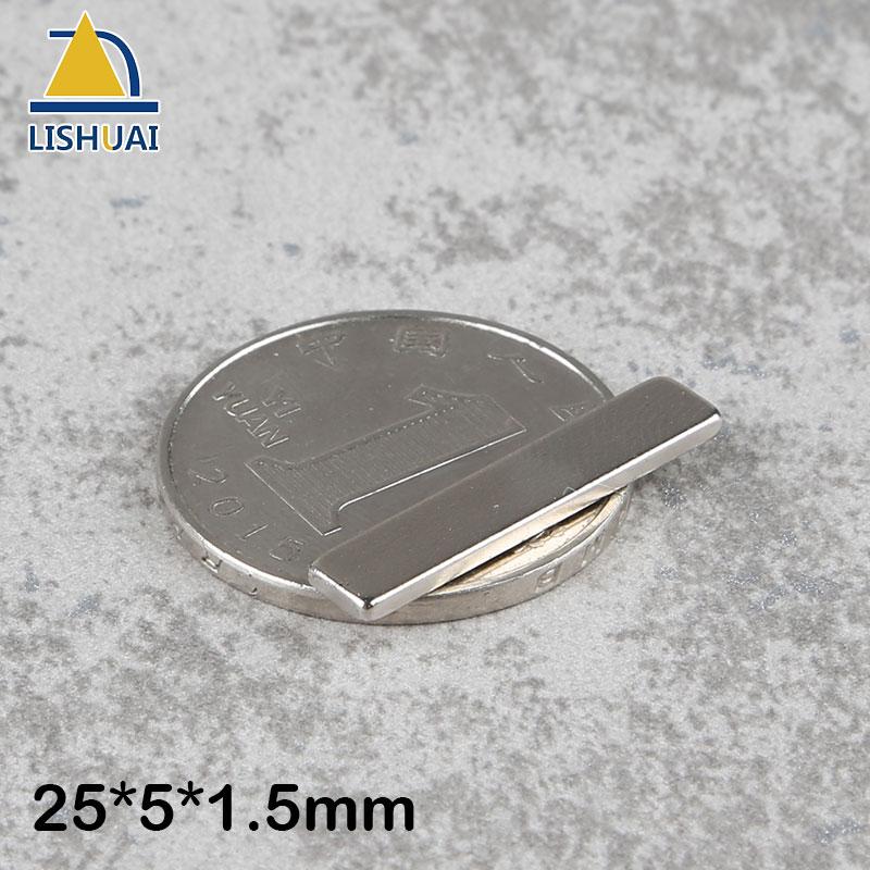 Imanes de bloque fuerte nevera cúbica LISHUAI 50 Uds 25x5x1,5mm, hoja a granel de neodimio de tierras raras, Mini discos magnéticos