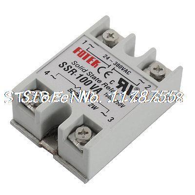 AC 250 V 100 Amp 2 W 500 Kohm Monofásico Módulo Relé de Estado Sólido SSR-100VA
