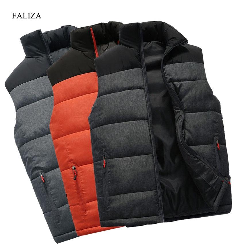 FALIZA, новый мужской жилет, куртки, жилет без рукавов, зимний мужской теплый жилет, Homme, повседневный утепленный жилет, Chalecos Para Hombre, 5XL, MJ-M