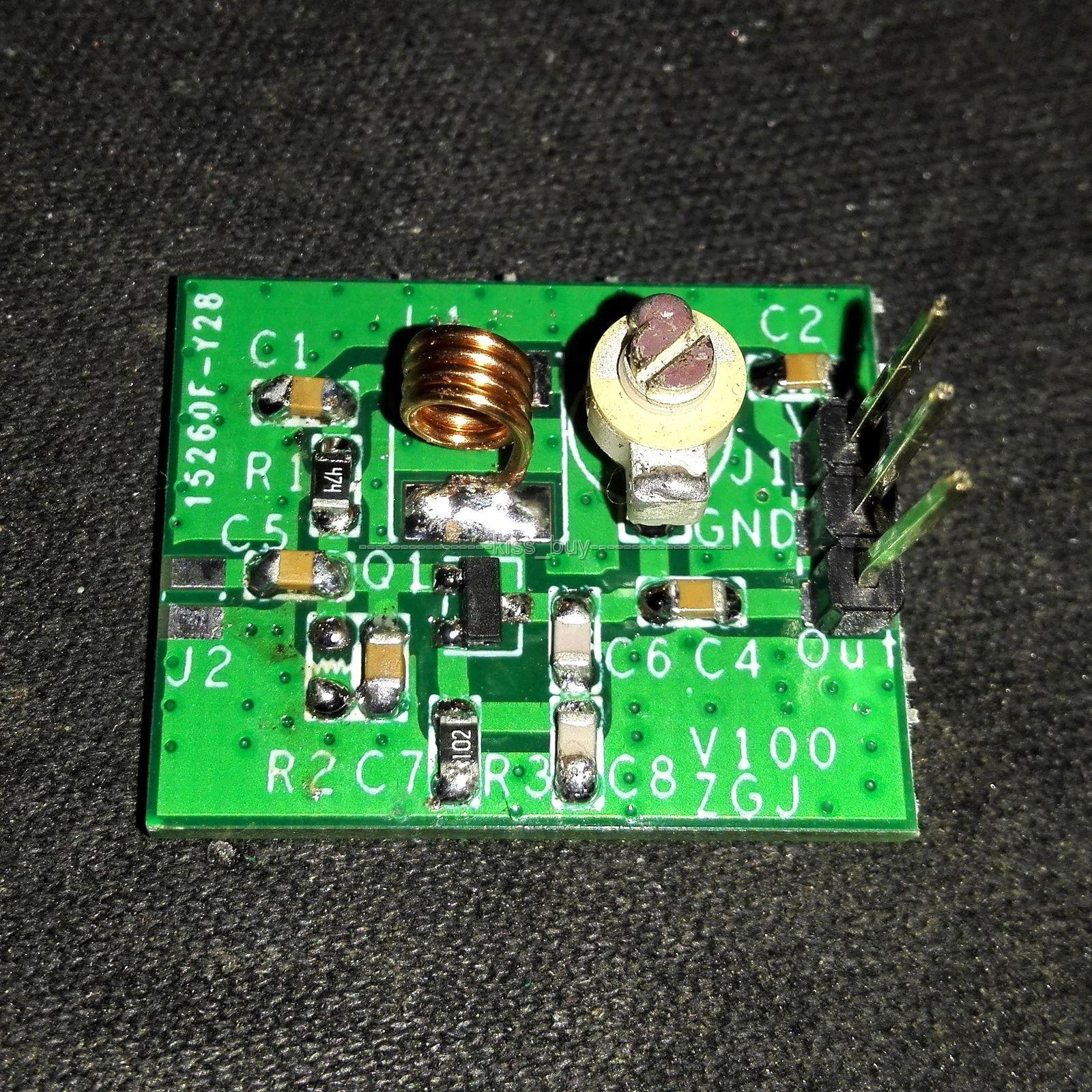 2SC9018 oscilador fuente de señal MP3 FM Radio módulo transmisor 80-120MHz Kits