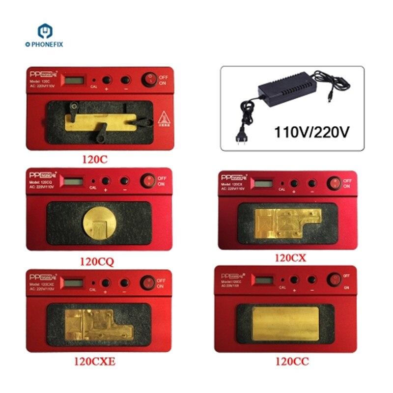 Estación de retrabajo de calentamiento de PCB PHONEFIX PPD 120 A8 A9 A10 A11 A12 CPU NAND Estación de soldadura BGA para herramienta de reparación de iPhone