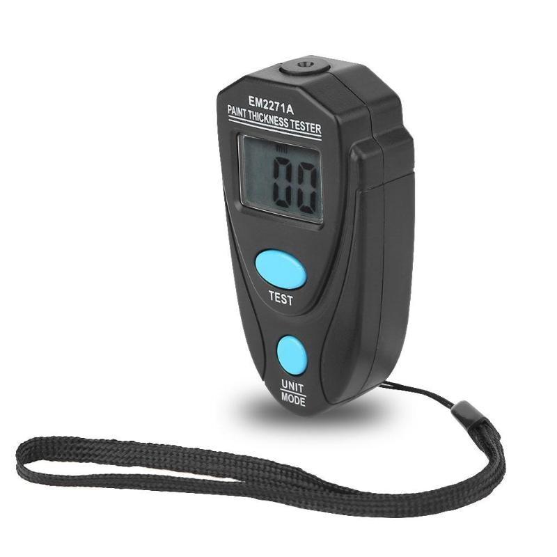 EM2271A en inglés Manual Digital de pintura para coche medidor de espesor de recubrimiento con ajuste de hoja probador de espesor de pintura