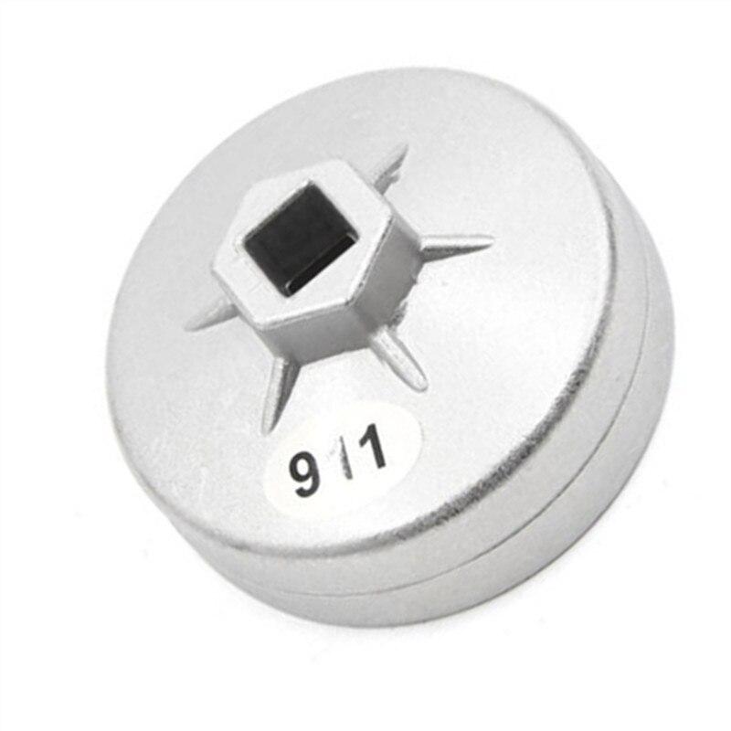 Alumínio 1/2 Square Drive 76mm 12 Flautas End Cap Filtro De Óleo Chave Soquete Ferramenta Remover 911 Para Ford Mazda mitsubishi Daihatsu