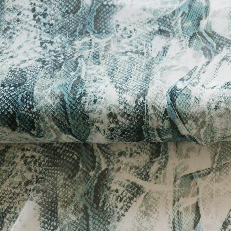 África cobra padrão mulberry tecido de seda chiffon georgette 100cm * 114cm