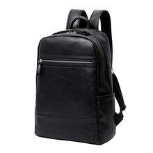 Hommes sac à dos en cuir homme sac mode décontracté luxe concepteur pochette dordinateur grande capacité voyage hommes sacs sac décole pour le collège
