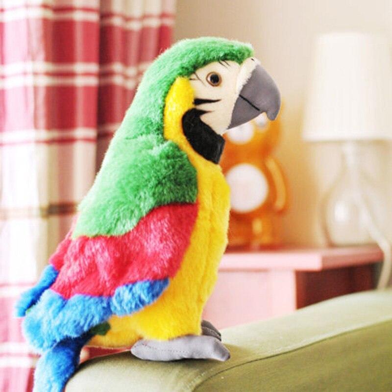Горячая Распродажа 26 см говорящая запись милый попугай повторяет развевающиеся крылья электрическая плюшевая имитация попугая игрушка Макау милый подарок для ребенка