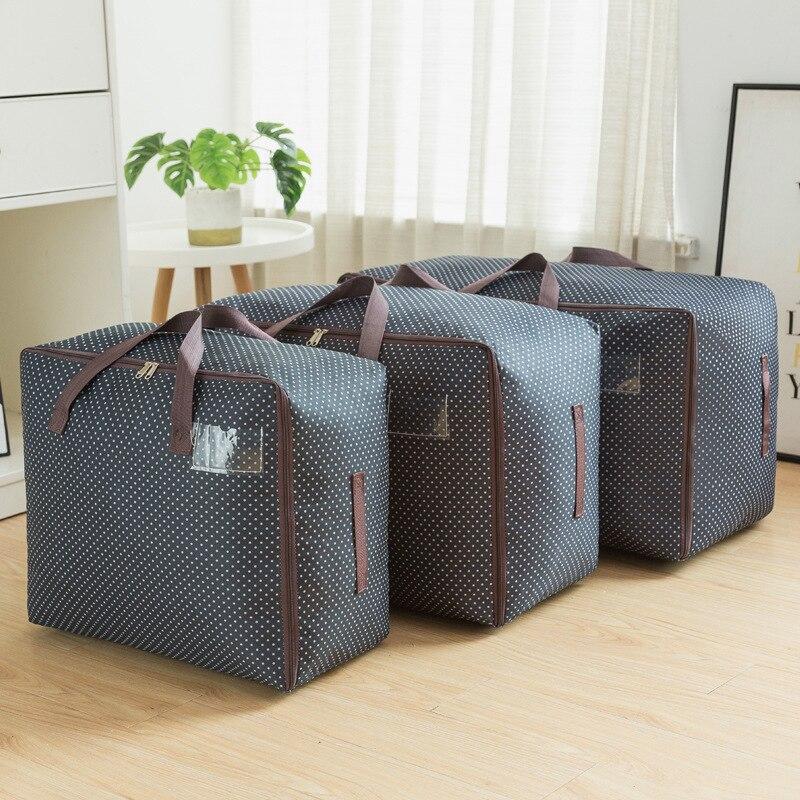 Bolsa de algodón Oxford para colcha, bolsa de almacenamiento, bolsa organizadora para equipaje, organizador de maletas, Gadget organizador, ropa de Bolsa con cierre de cremallera de Juguetes