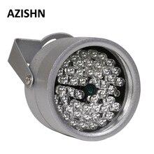 AZISHN CCTV المصابيح 48IR المنور ضوء IR الأشعة تحت الحمراء للرؤية الليلية المعادن للماء CCTV ملء ضوء للكاميرا المراقبة Cctv
