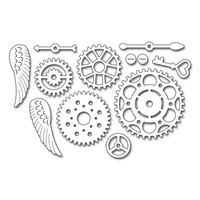 gear wheel wings metal cutting dies for scrapbooking decorative diy crafts embossing paper cards making stencils new 2020