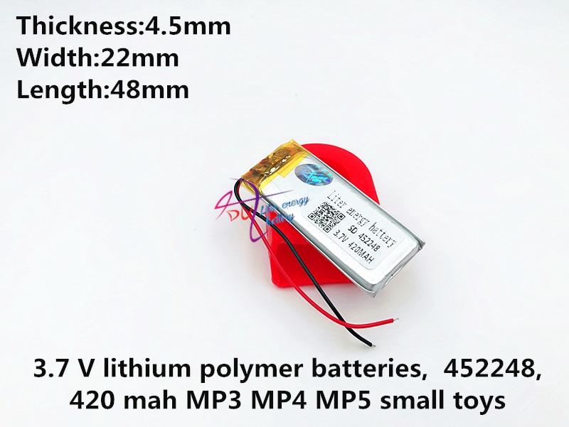 SD452248 452248 3,7 v 420mah batería lipo recargable para productos digitales