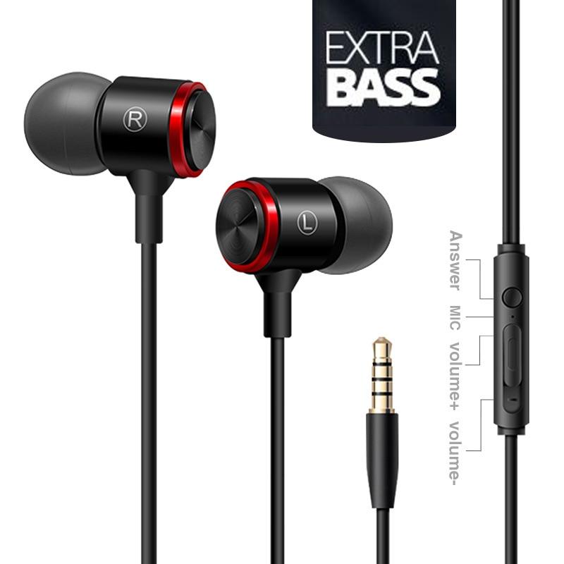 Duszake S320 стерео бас наушники в ухо 3,5 мм проводные наушники металлические HIFI наушники с микрофоном для телефонов Xiaomi Samsung Huawei