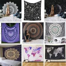 Polyester Mandala Druck Tapisserie Wandbehang Teppich Werfen Yoga Strand Matte Decke Große 150*200cm Schlaf pad wand kunst Tapisserie