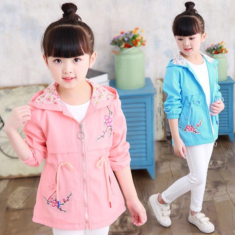 Novedad de 2019, ropa para niños, chaqueta de primavera para niñas, abrigo, chaquetas para niñas, chaqueta rosa con capucha, tops informales, ropa de abrigo