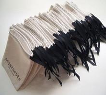 Ruban de coton bijoux sacs-cadeaux 8x10cm(3