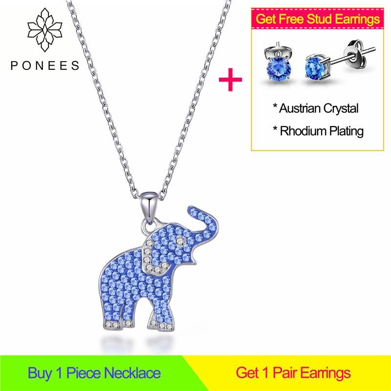 Бесплатная доставка, ожерелье с изображением африканского слона, белое золото, светло-голубой кристалл, ожерелье с подвеской в виде слона для женщин и девочек, подарок