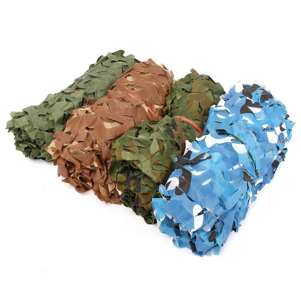 3x6M Oxford Cloth Jungle Shade Net Camouflage Hunting Shade Sail Mesh Netting Army Camping Car Hide Cover Sun Shelter Beach Tent