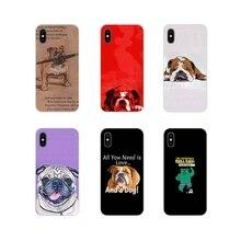 Fundas de TPU blandas para iPhone X de Apple XR XS MAX 4 4S 5 5S 5C SE 6 6S 7 7 Plus ipod touch 5 6 perro polinesio Bulldog Inglés de moda