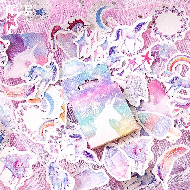 46-pz-pacco-fortunato-unicorn-box-pallottola-ufficiale-adesivi-decorativi-adesivi-adesivi-fai-da-te-decorazione-adesivi-diario-di-cancelleria
