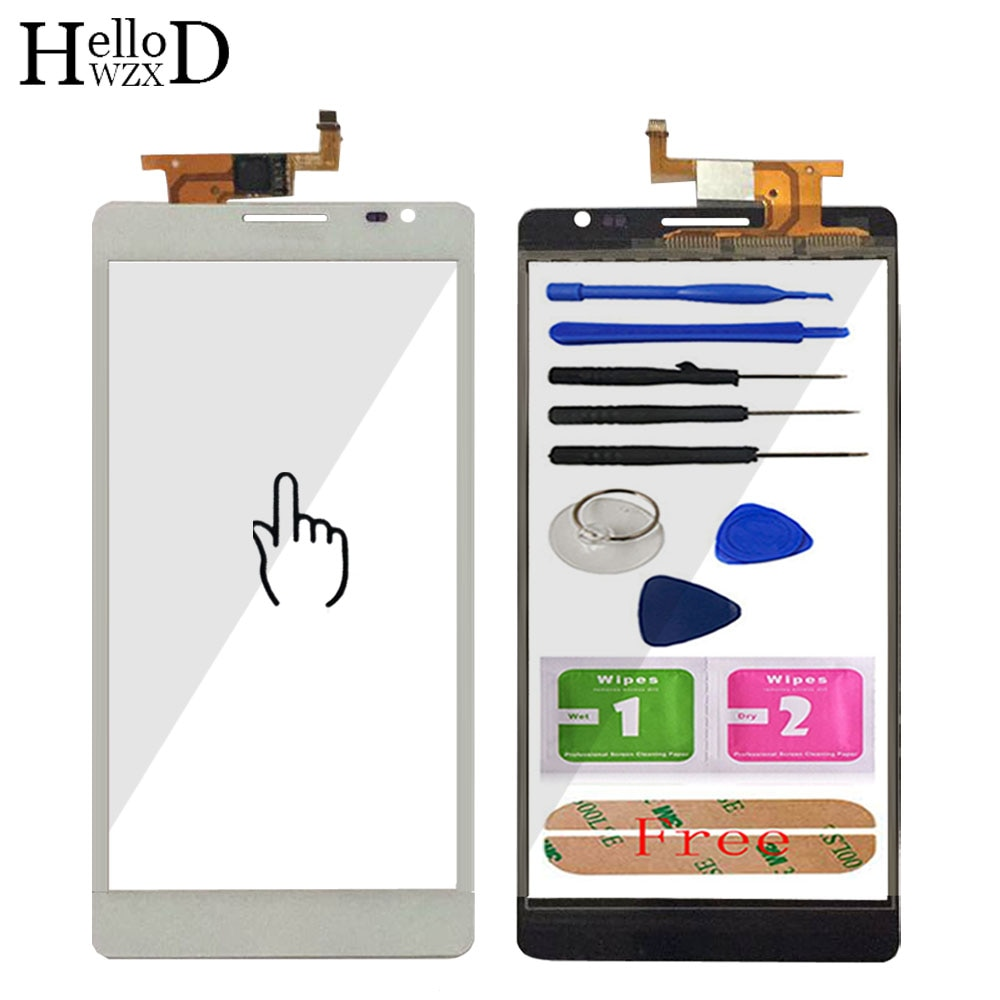A+++ Mobile Phone Front Touch Screen Panel For Huawei Mate MT1-U06 MT1 U06 Touch Screen Glass Digiti