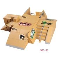 sk k 114 pcs super multi style combination finger skateboard park ramp fingerboard for tech deck finger board stage property