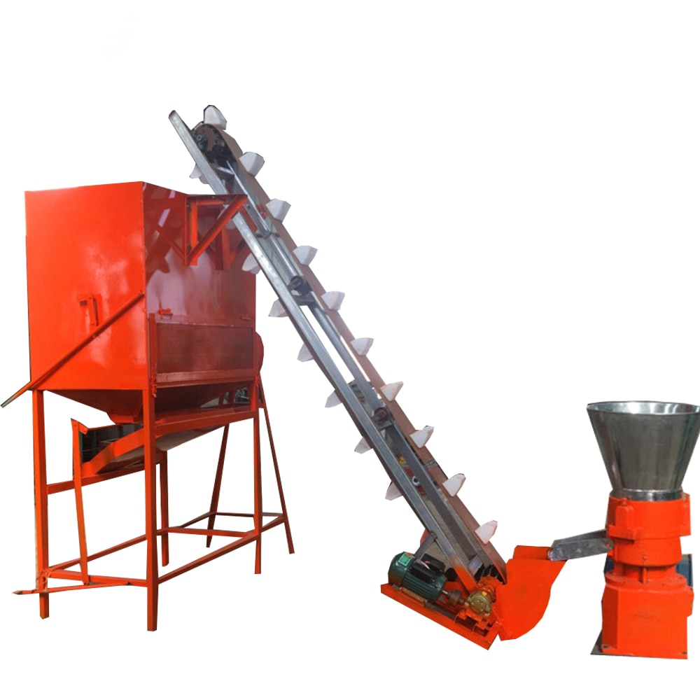 Máquina de pellets de madera Molino de pellets enfriador pellets madera con transportador