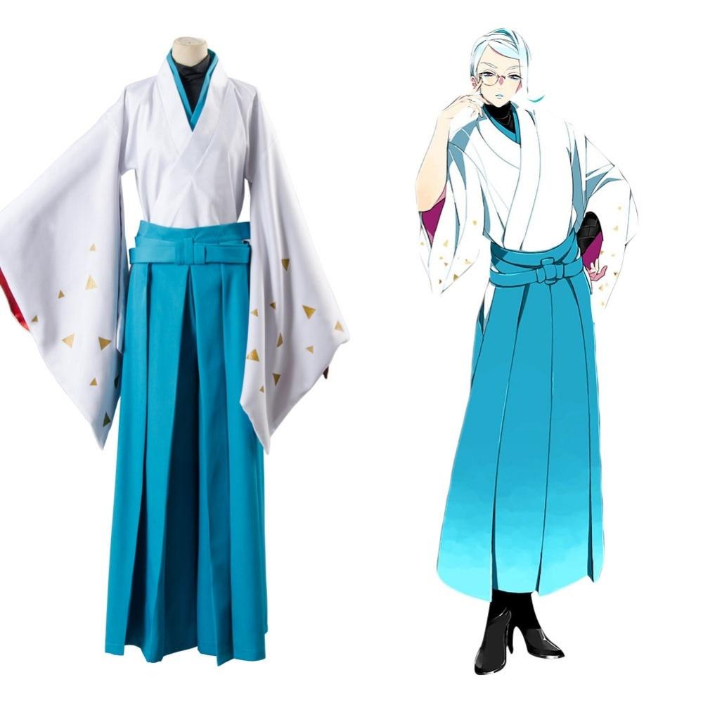 Touken Ranbu Tomoegata Naginata Kimono Cosplay conjunto completo