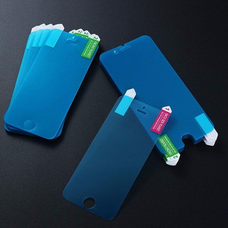 Nano Anti Choque 100 pçs/lote Macio Proteger Filme À Prova de Explosão Protetor de Tela Ultra Fina Para O Iphone XS Max XR X 7 8 Plus 6 6 s 5