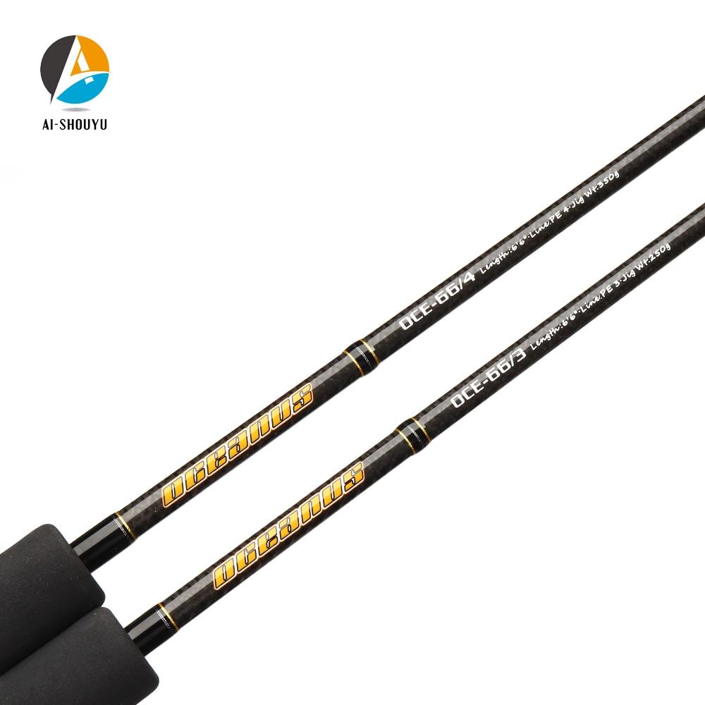 2020 New Professional Slow Jigging Rod 1.98m Full Japan Fuji Parts Single Section Carbon Casting Boat Rod Ocean Fishing Pole enlarge