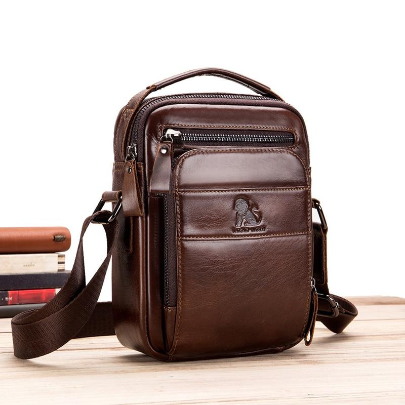 AliExpress - Men's Genuine Leather High Quality Casual Messenger Bag Classic Design Brand Fashion Retro Mobile Phone Shopping Storage Bag