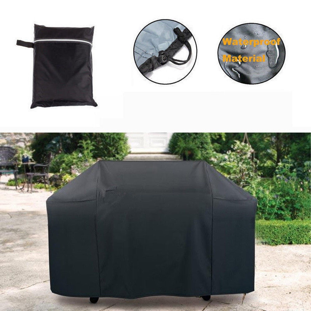 غطاء شواء خارجي مقاوم للماء ، واقي شواء للاستخدام الخارجي ، فحم ، للغاز ، الغبار ، 145 × 61 × 117 سنتيمتر