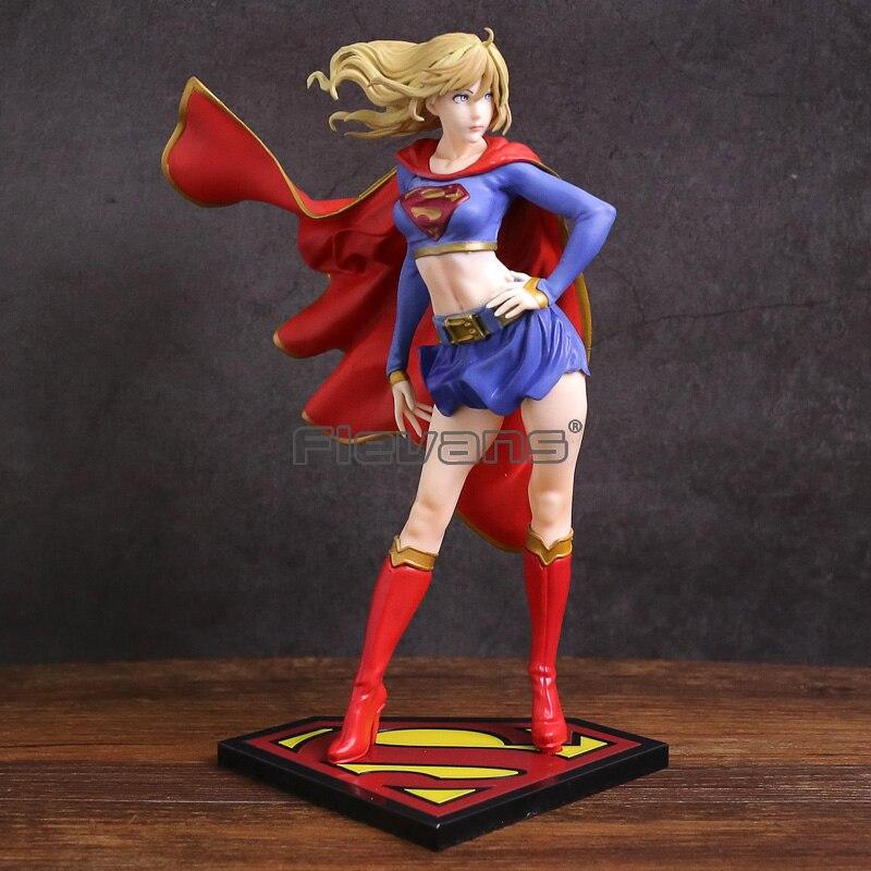 DC COMICS Bishoujo статуя Супергерл, ПВХ фигурка, Коллекционная модель игрушки