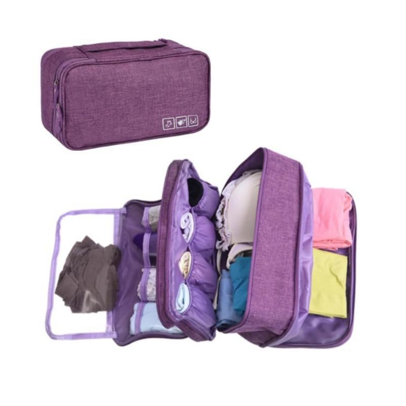 Bolsa de ropa interior con sujetador multicapa bolso calcetín impermeable portátil de viaje para mujer Paquete de equipaje bolsa de almacenamiento de viaje bolsas de lujo plegables