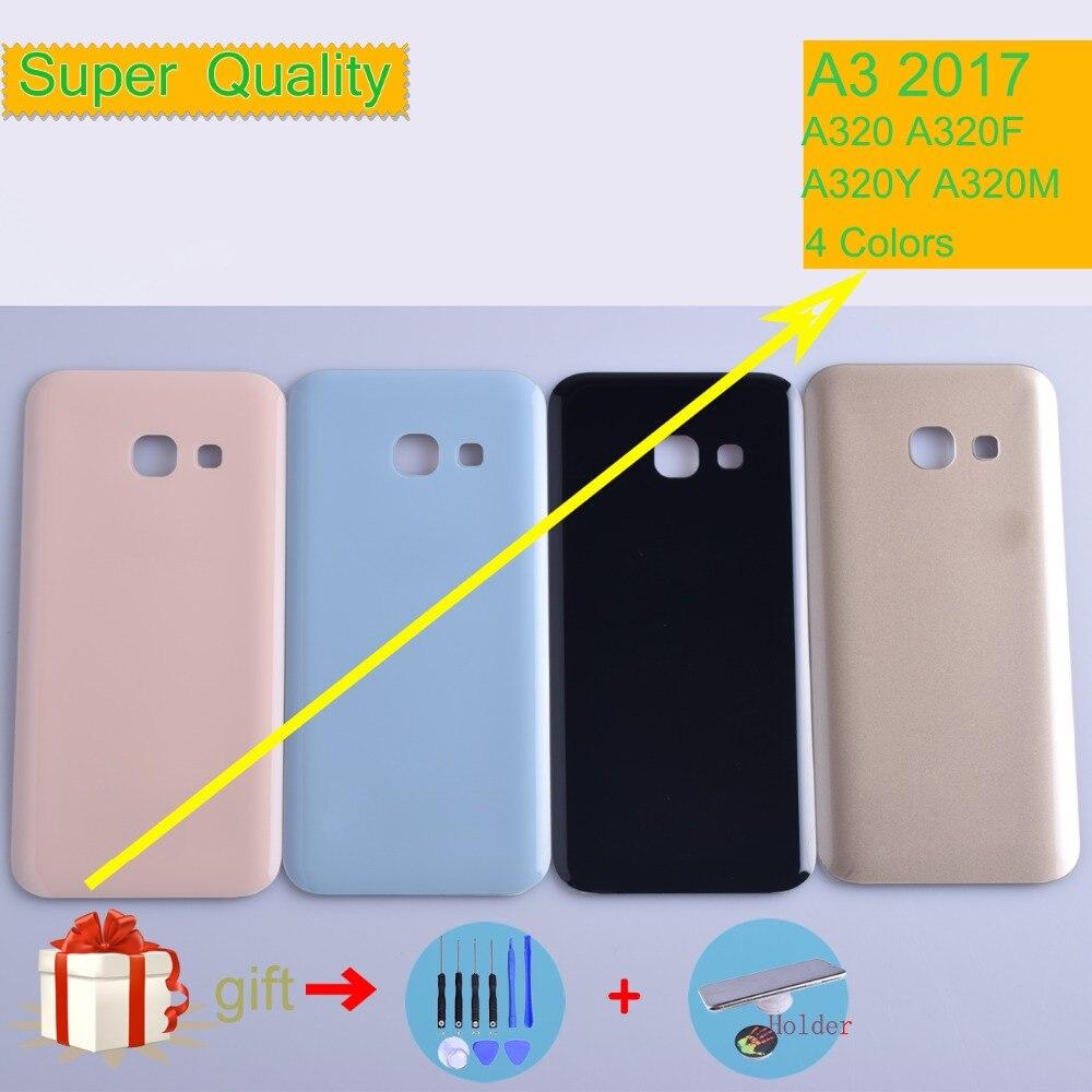Оригинальный чехол для Samsung Galaxy A3 2017 A320 A320F A320Y, Крышка батарейного отсека, задняя крышка корпуса, задняя крышка корпуса КОРПУСА A3 2017