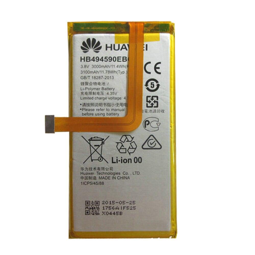 100% оригинал HB494590EBC 3000 мАч аккумуляторная батарея для Huawei Honor 7 Glory PLK-TL01H ATH-AL00 PLK-AL10 телефона