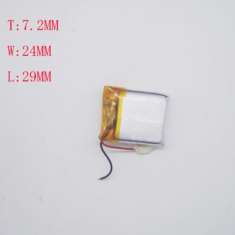3.7 V Bateria de Polímero de Lítio 702025/722429 Ponto Leitor Isqueiro com 300 mAh Núcleo